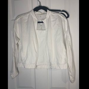 Lululemon white sport jacket size 4